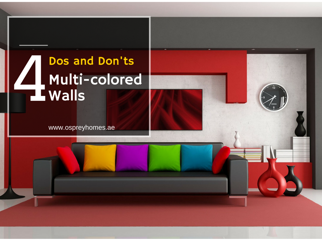 4 dos and don 39 ts for multi colored walls Accent wall do s and don ts