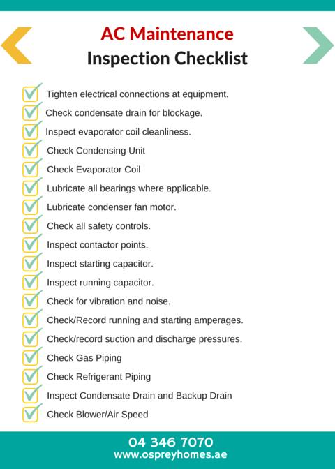 AC Maintenance Inspection